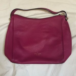 kate spade Fuschia Leather Shoulder Bag